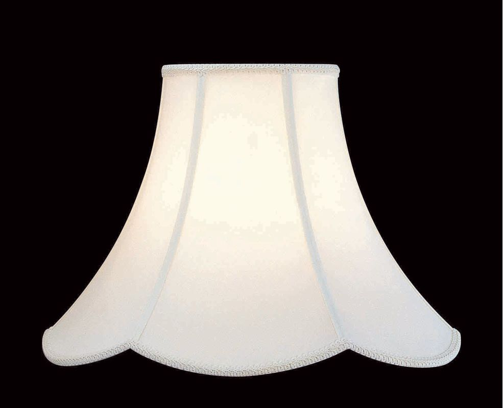 "Lite Source CH107-18 14"" Height Large White Bell Shade with Scallop Sale $62.00 ITEM: bci291888 ID#:CH107-18 UPC: 88675610250 :"