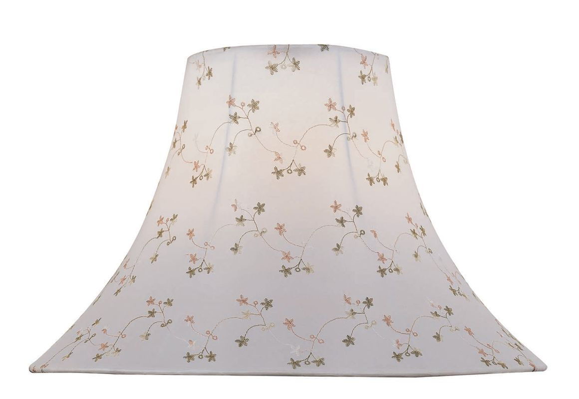 """Lite Source CH1148-16 12"""" Height Large White Jacquard Bell Shade White"""
