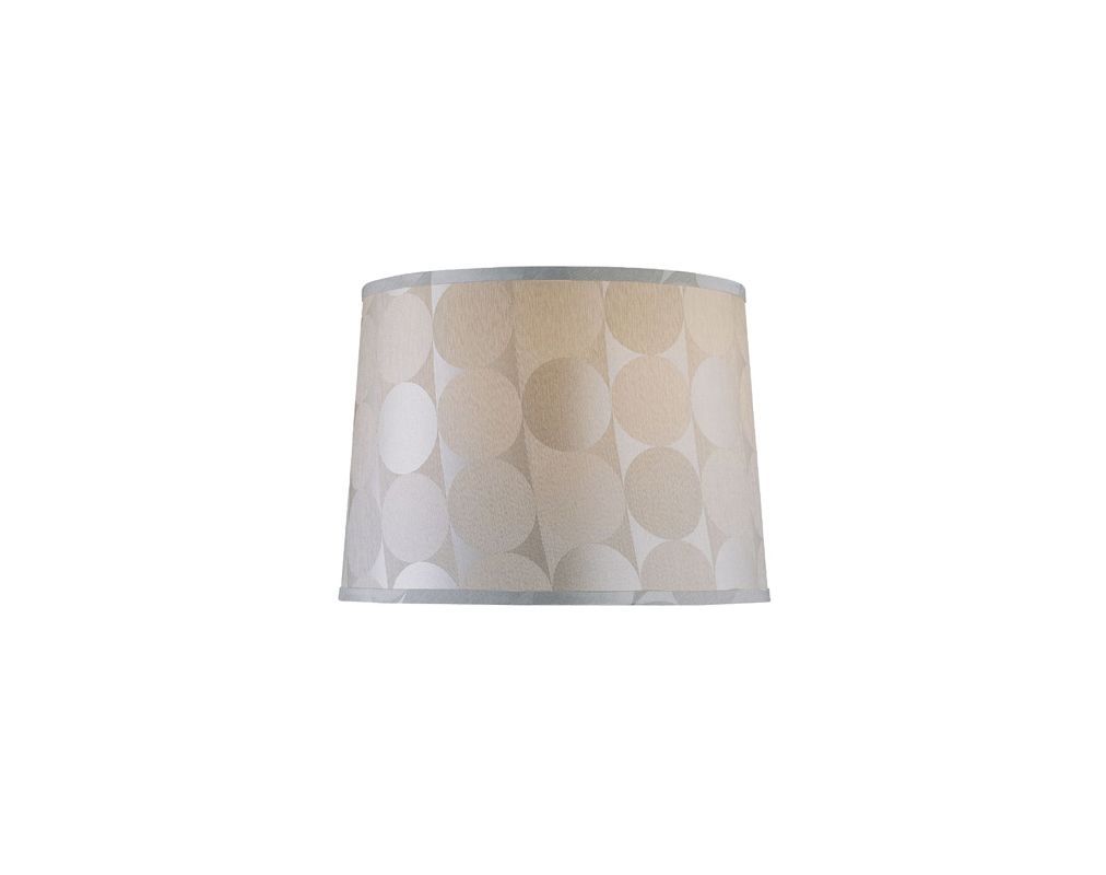 "Lite Source LS-CH1176-18 12.5"" Height Large Light Beige Bell Shade"