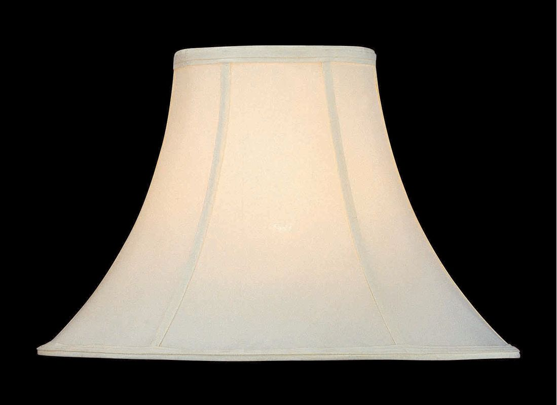 "Lite Source CH135-16 12"" Height White Bell Shade White Shades Large"
