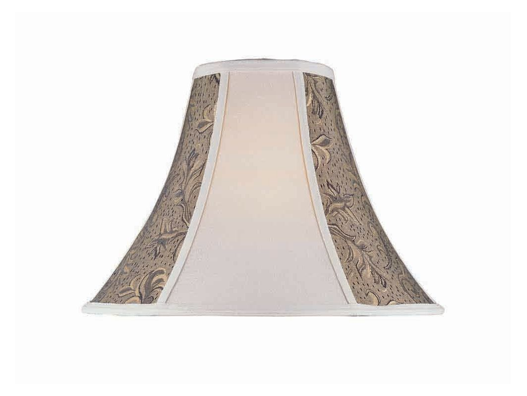 "Lite Source CH175-18 12"" Height Wheat Jacquard Bell Shade Wheat /"