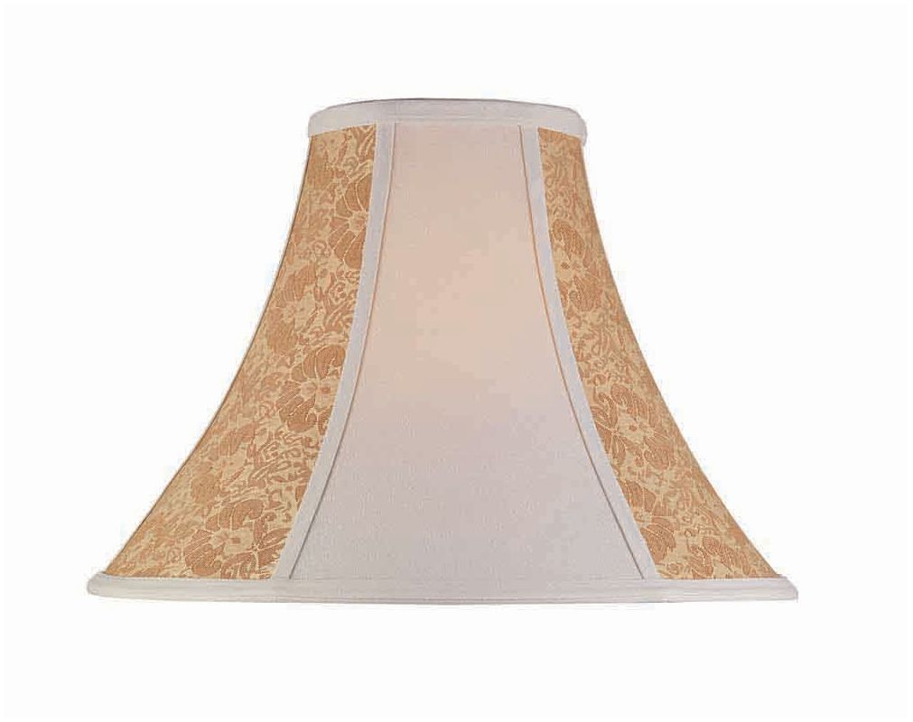 "Lite Source CH176-18 12"" Height Large Stone Jacquard Bell Shade Stone"