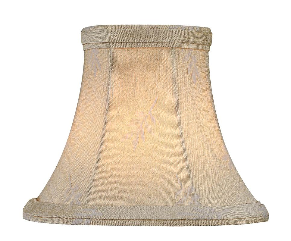 """Lite Source CH5130-5 4"""" Height Small Off-White Jacquard Bell"""