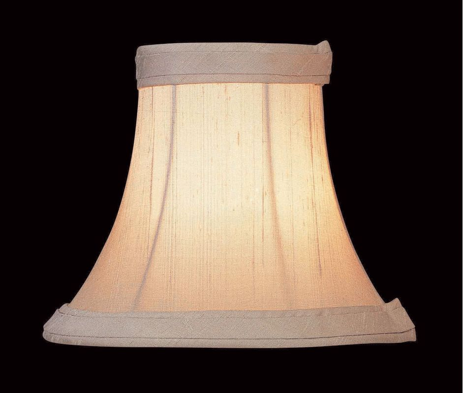 "Lite Source CH545-6 5"" Height Small Silver Beige Bell Candelabra Shade"