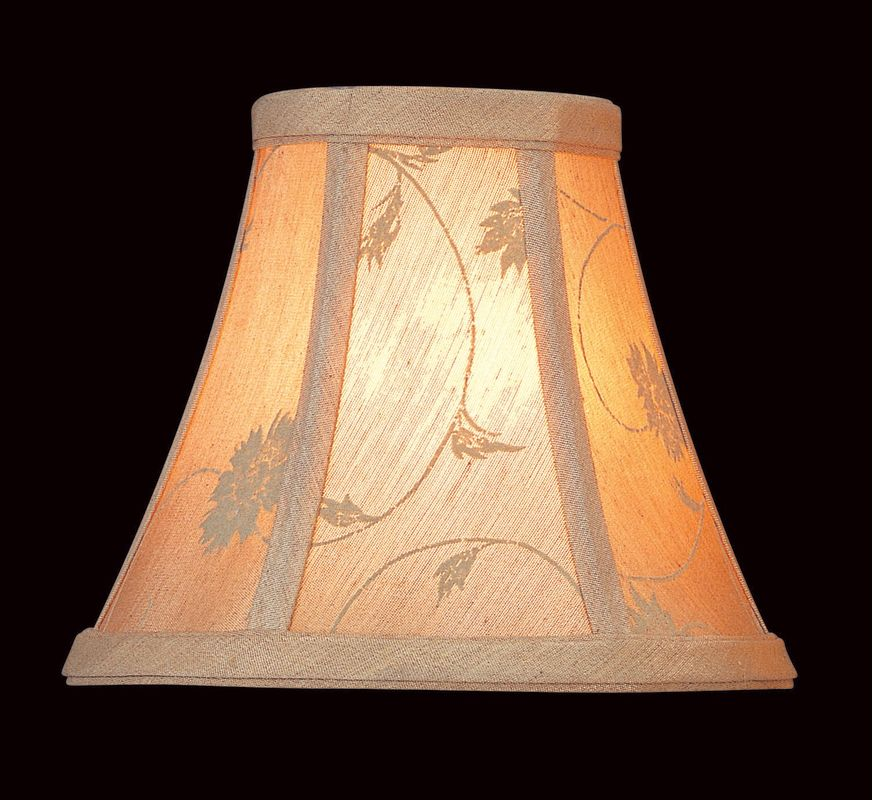 "Lite Source CH554-6 5"" Height Light Beige Jacquard Bell Candelabra"
