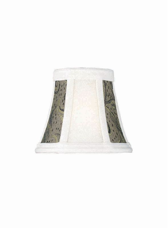 "Lite Source CH575-6 5"" Height Small Wheat Jacquard Bell Candelabra"