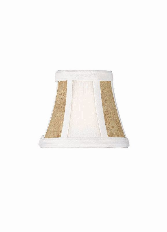"Lite Source CH576-6 5"" Height Small Stone Cream Gold Jacquard Bell"