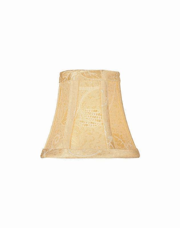 "Lite Source CH581-5 4.5"" Height Small Gold Jacquard Bell Candelabra"