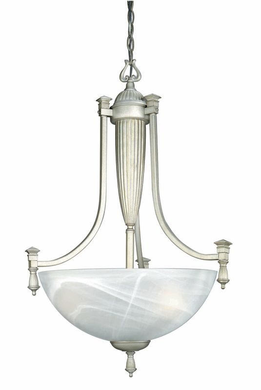 Lite Source LS-10583 Three Light Bowl Pendant from the Luxor