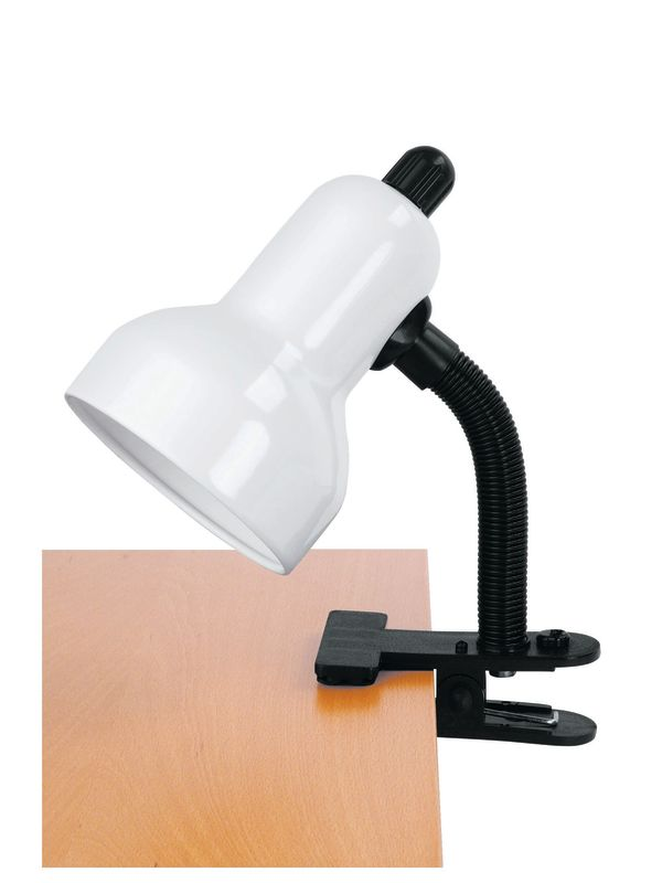 Lite Source LS-111 Clamp On Lamp from the Clip-On Collection White