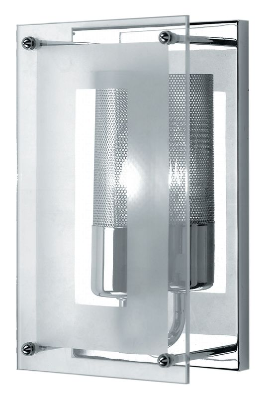 Lite Source LS-1385 Wall Washer Sconce from the Wick Collection Sale $83.00 ITEM: bci338115 ID#:LS-1385C/CLR UPC: 88675420170 :