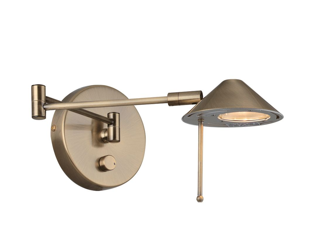 Lite Source LS-16350 Swing Arm Wall Sconce from the Rhine Collection