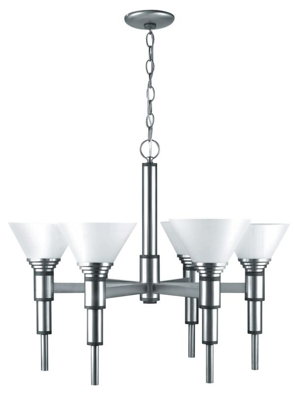 Lite Source LS-17026 6 Light Up Lighting Chandelier from the Pillar