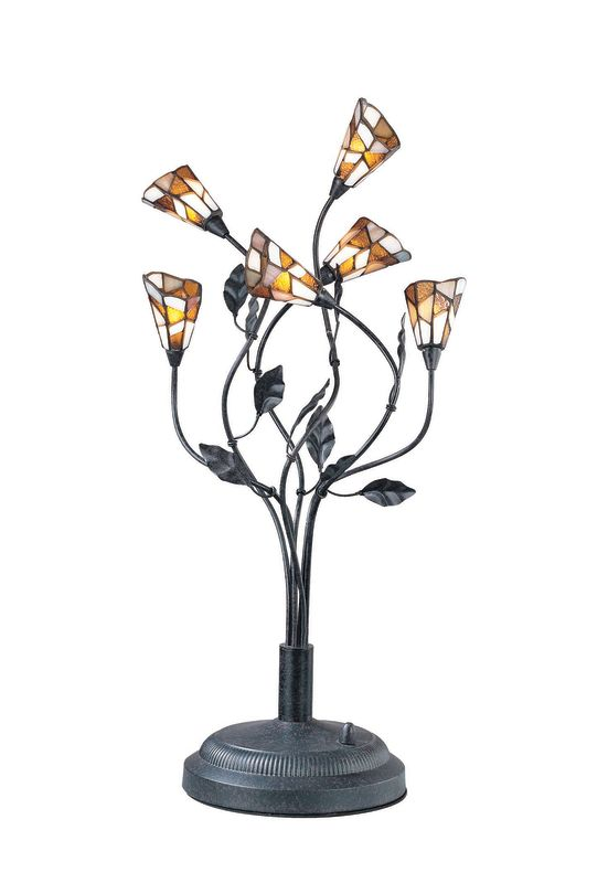 Lite Source LS-2781 Stained Glass / Tiffany Table Lamp from the Epic