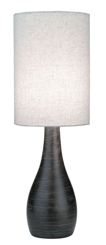Lite Source LS-2996 Table Lamp from the Quatro Collection Brushed Dark