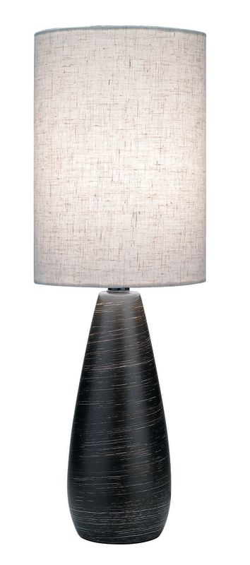 "Lite Source LS-2998 18"" Table Lamp from the Quatro Collection Brushed"