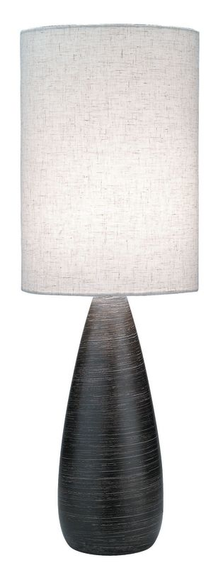 "Lite Source LS-2999 28"" Table Lamp from the Quatro Collection Brushed"