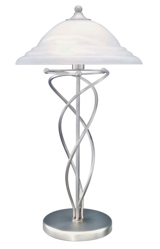 Lite Source LS-3640 Table Lamp from the Majesty Collection Satin Steel Sale $185.00 ITEM: bci339094 ID#:LS-3640SS UPC: 88675409458 :