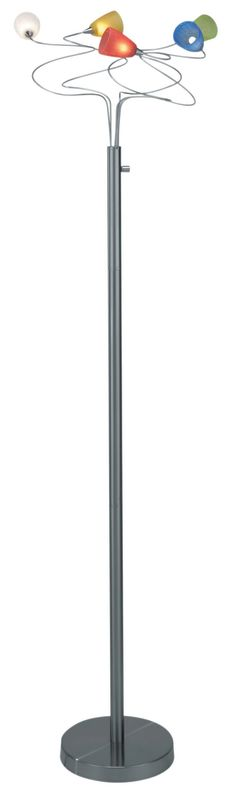 Lite Source LS-8588 Floor Lamp from the Wiggly II Collection Polished