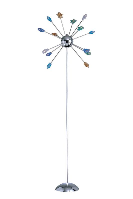Lite Source LS-8614 Floor Lamp from the Starstruck Collection Chrome Sale $262.00 ITEM: bci339320 ID#:LS-8614C/MULTI UPC: 88675424482 :