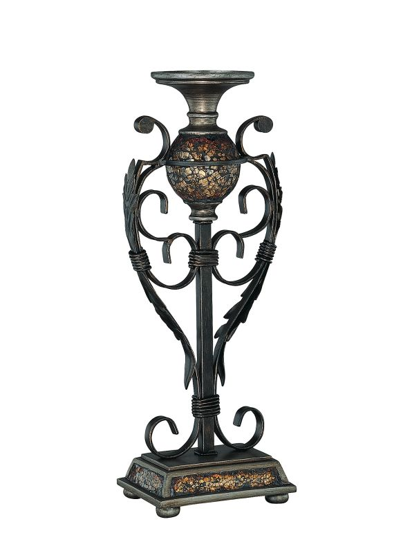 Lite Source C41032 Candle Holder Mosaic from the Narcisco Collection