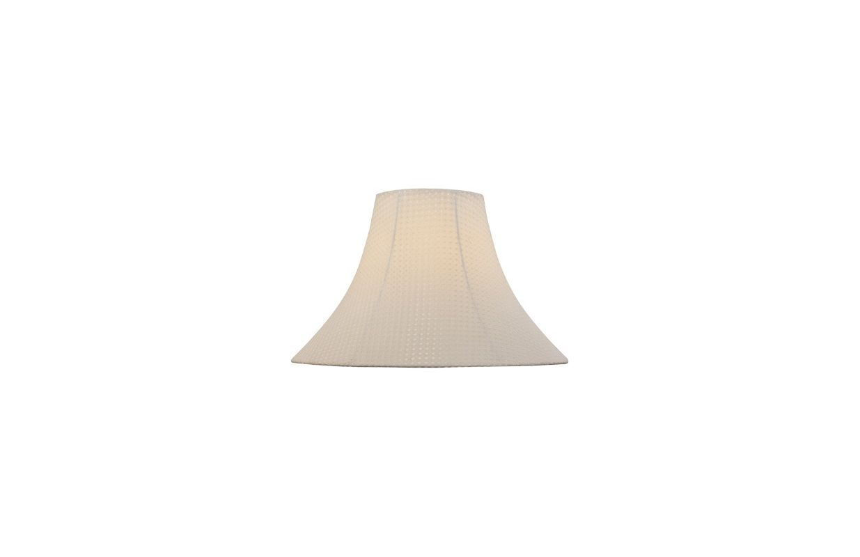 "Lite Source LS-CH1165-18 12.5"" Height Large Light Beige Jacquard Bell"