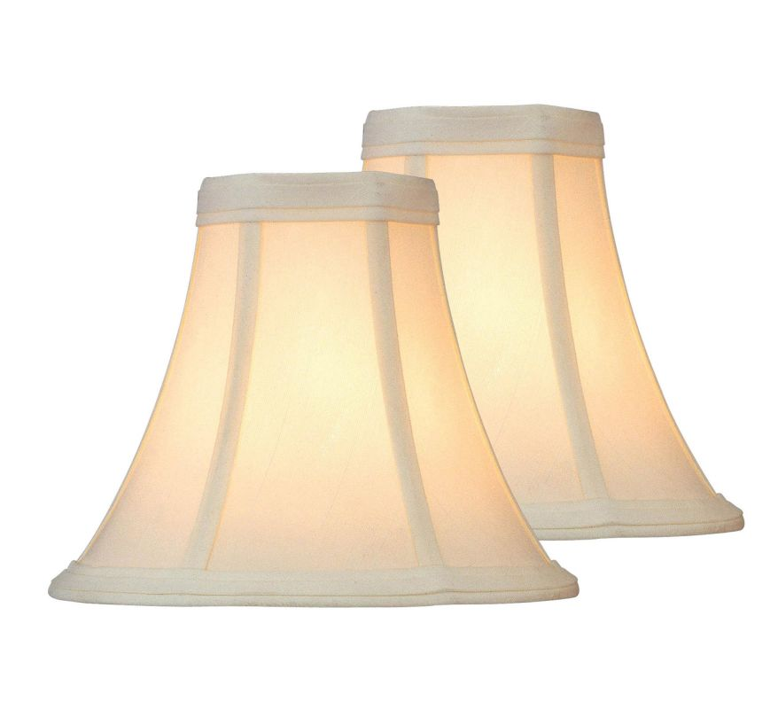 "Lite Source CH504-6/2PK 6"" Eggshell Candelabra Shade - Pack of Two"