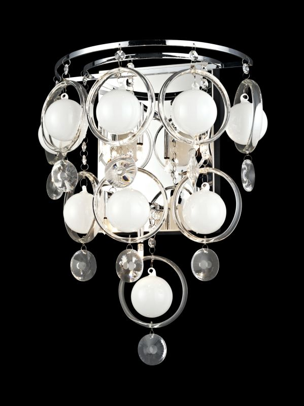 Lite Source EL-10077 Bubbles 6 Light Wall Sconce Chrome Indoor