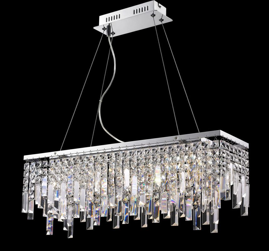 Lite Source EL-10117 Helaine 6 Light Chandelier with Crystal Accents