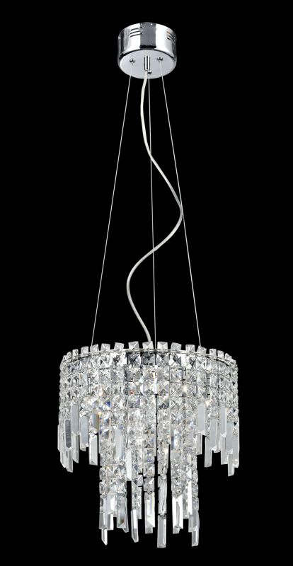 Lite Source EL-10127 Helaine 6 Light Chandelier with Crystal Accents