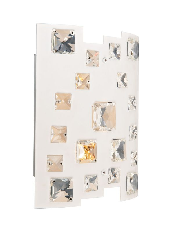 Lite Source EL-10133 Isabella 2 Light Wall Sconce with White Shade and