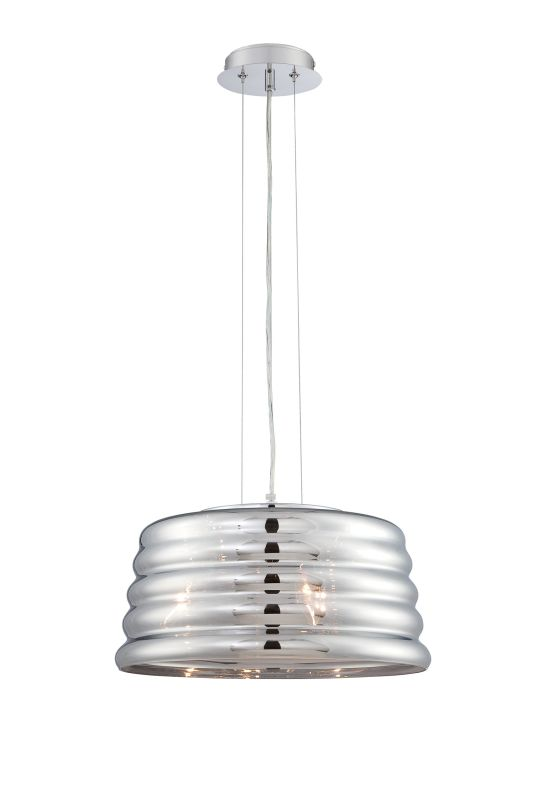 Lite Source EL-10135 Venice 3 Light Pendant with Smoke Mirrored Glass