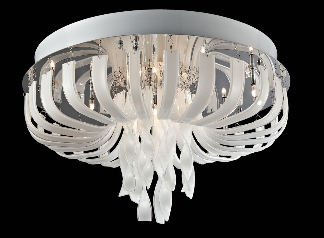 Lite Source EL-50080 Ribbon 12 Light Flush Mount Ceiling Fixture Sale $796.00 ITEM: bci2436872 ID#:EL-50080 UPC: 88675900665 :