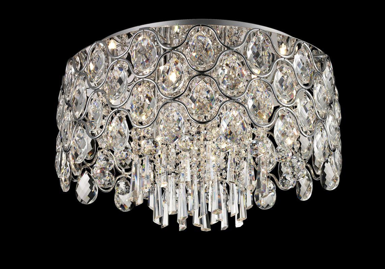 Lite Source EL-50109 Cashlin 9 Light Flush Mount Ceiling Fixture with