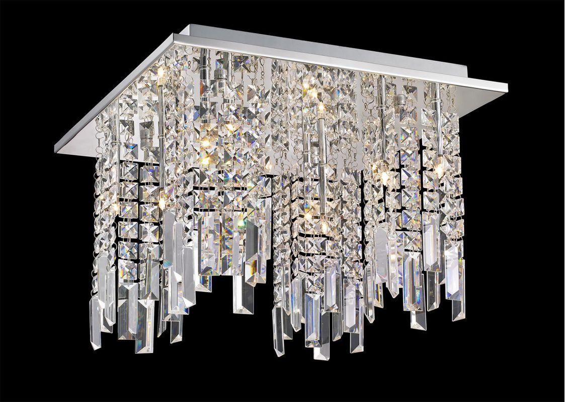 Lite Source EL-50116 Helaine 8 Light Flush Mount Ceiling Fixture with