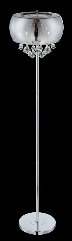 Lite Source EL-90064 4 Light Floor Lamp with Crystal Ornament Accents
