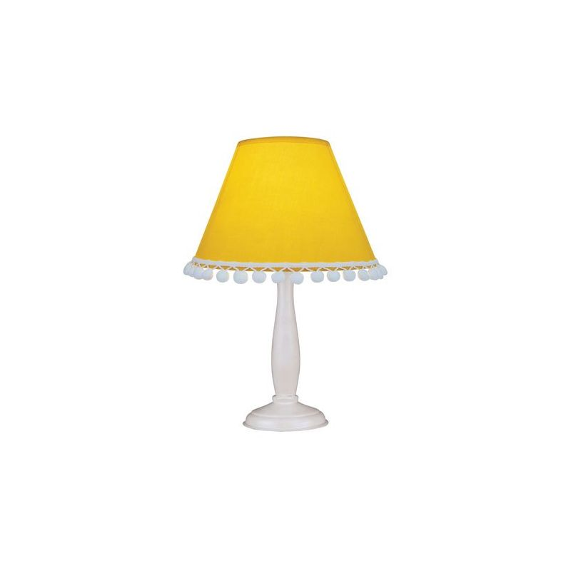 Lite Source IK-6098 Pompom 1 Light Table Lamp Yellow Lamps