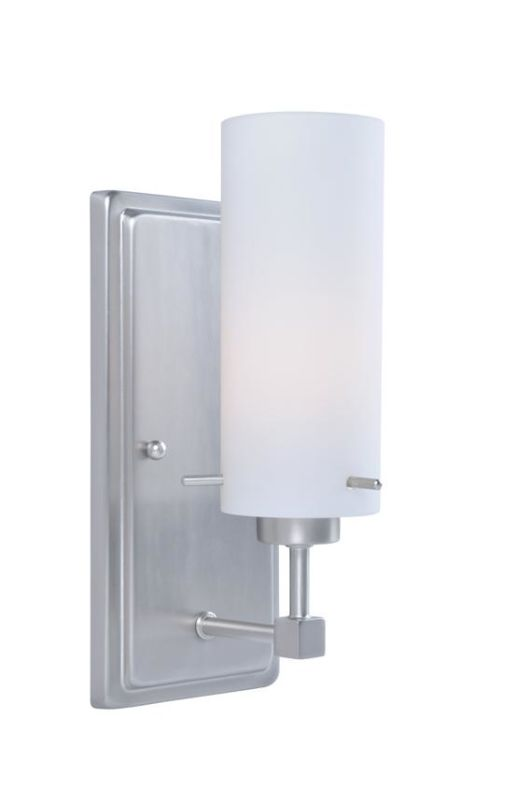Lite Source LS-14751 Scarlett 1 Light Wall Sconce with Frosted Glass