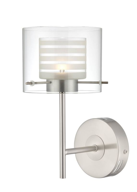 Lite Source LS-16247 Vito 1 Light Wall Sconce Polished Steel Indoor