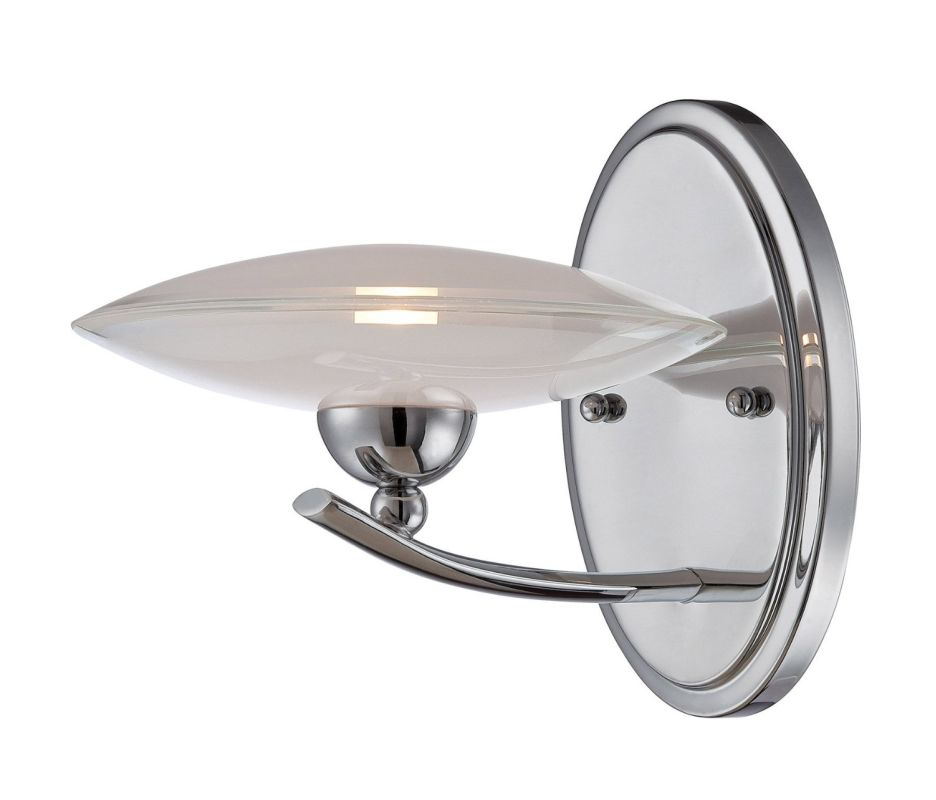Lite Source LS-16561 Calandra 1 Light Wall Sconce Chrome Indoor