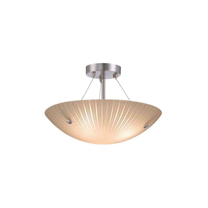 Lite Source LS-18460 Rocco 3 Light Semi Flush Ceiling Fixture Polished