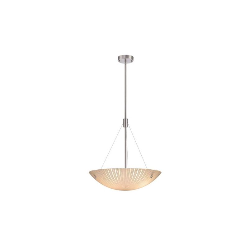 Lite Source LS-18461 Rocco 4 Light Full Sized Pendant Polished Steel