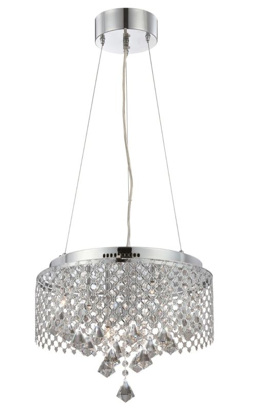 Lite Source LS-19280 Saturnus 9 Light Full Sized Pendant Chrome Indoor