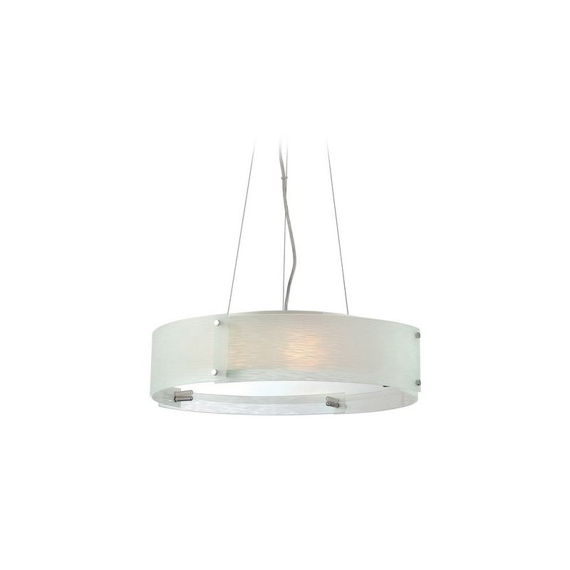 Lite Source LS-19420C/FRO Kaelin 3 Light Drum Pendant Chrome Indoor