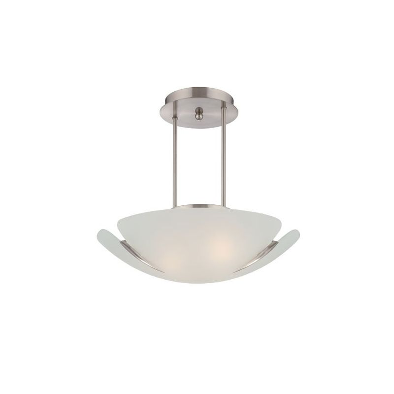 Lite Source LS-19422PS/FRO Devona 3 Light Semi Flush Ceiling Fixture