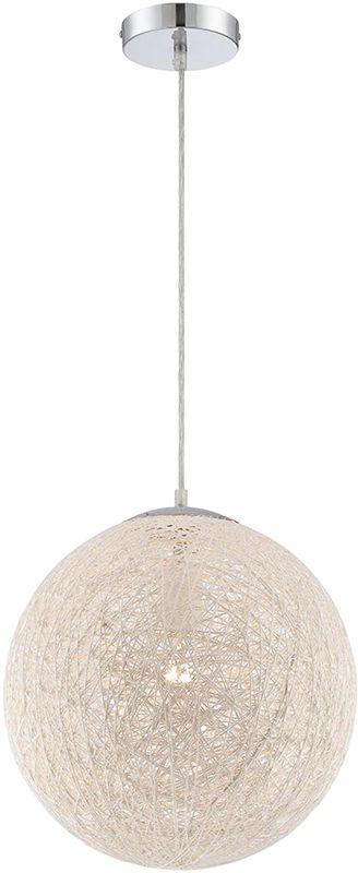 Lite Source LS-19520 Kumi 1 Light Pendant with Weaved Paper Shade
