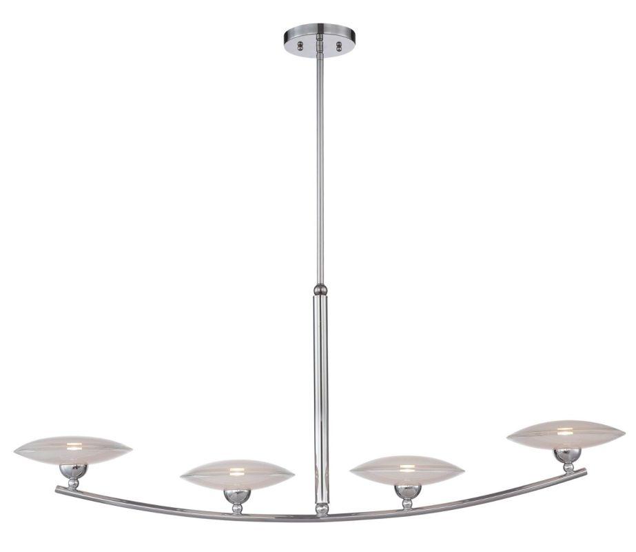 Lite Source LS-19564 Calandra 4 Light 1 Tier Chandelier Chrome Indoor