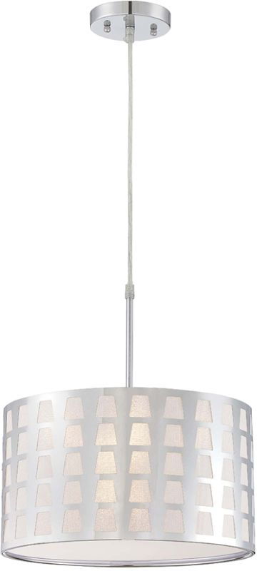 Lite Source LS-19600 Marciano 1 Light Pendant with Chrome Shade Chrome