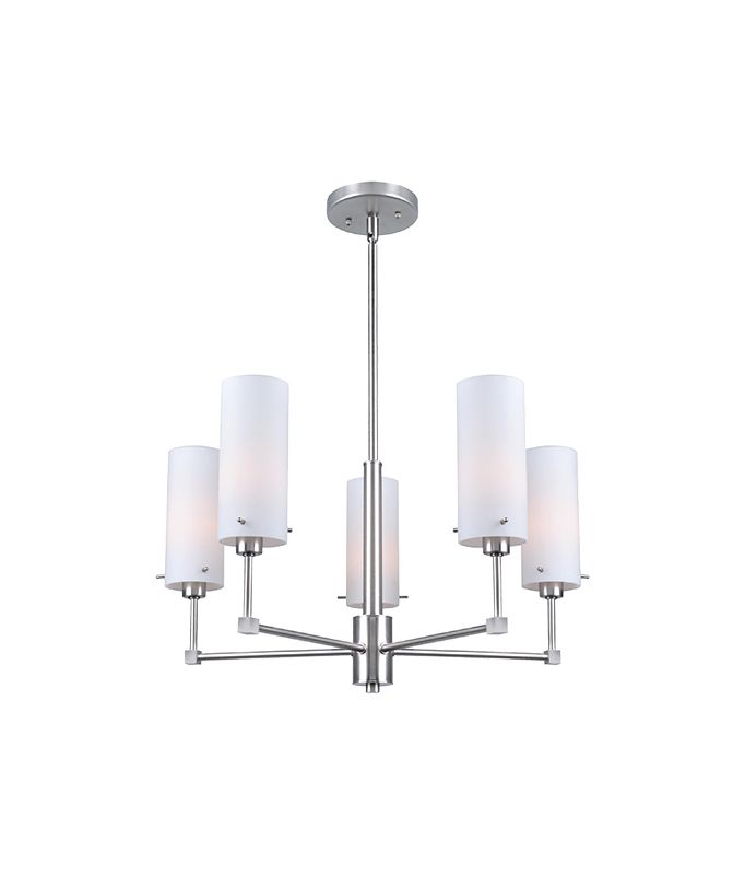 Lite Source LS-19755 Scarlett 5 Light Chandelier with Frosted Glass
