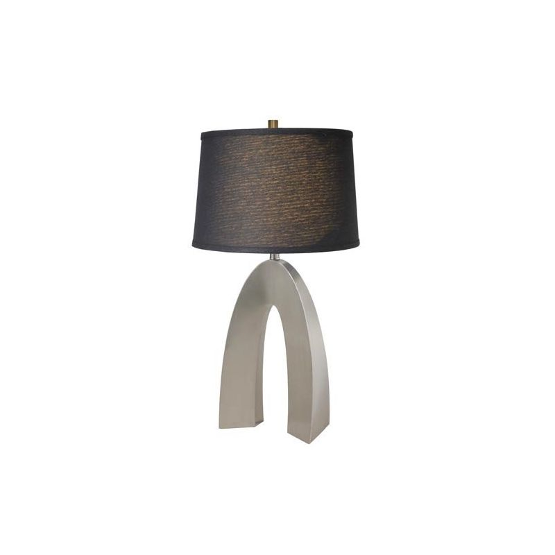 Lite Source LS-21931PS/BLK Forster 1 Light Table Lamp Polished Steel